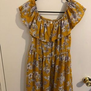 Off shoulder strapless mini dress